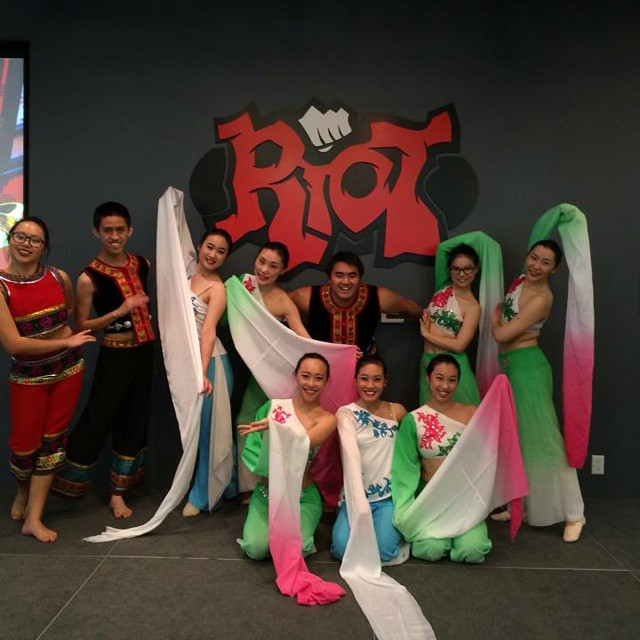 Here's a favorite moment from last month: CCDC at Riot Games! Not only did we get to perform in front of an amazing crowd--we got a tour of the company as well! :) Stay tuned for more pictures from our outside performances.